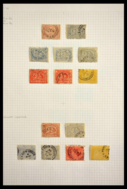 Stamp collection 28664 Egypt 1872-1884.