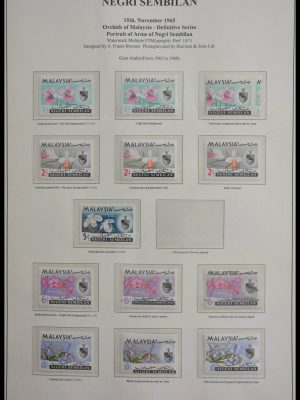 Stamp collection 28674 Malaysia Negri Sembilan 1965-1992.