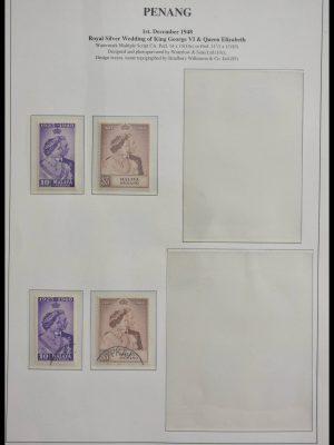 Stamp collection 28678 Malaysia Penang 1948-1986.