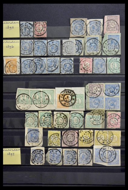 Stamp collection 28782 Netherlands largeround cancels.