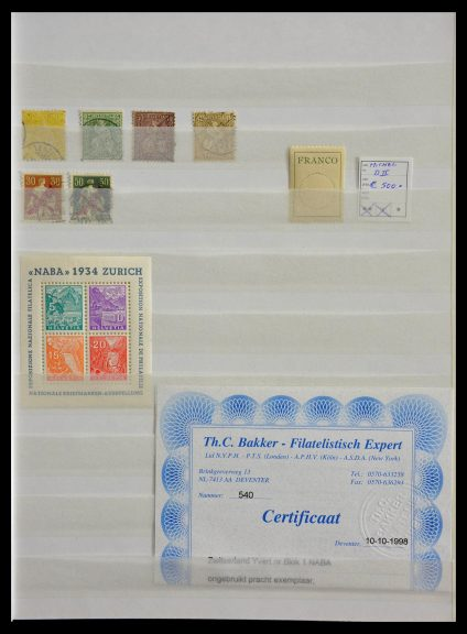 Stamp collection 28805 Switzerland.