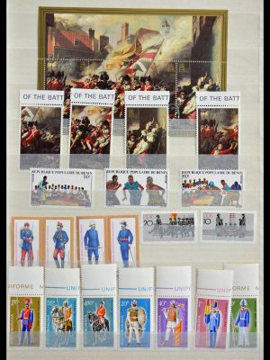 Stamp collection 28840 Thematics: uniforms and costumes.