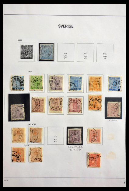 Stamp collection 28879 Sweden 1855-1997.