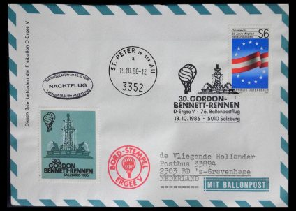 Stamp collection 28889 Balloon post 1927-2001.