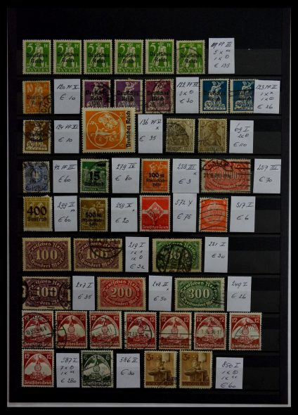 Stamp collection 28912 German Reich plateflaws.