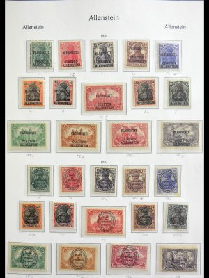 Stamp collection 29029 German territories 1919-1920.