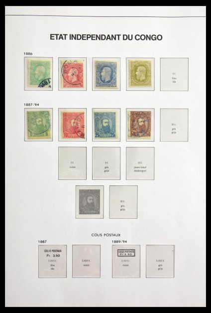 Stamp collection 29063 Belgian Congo 1886-1964.