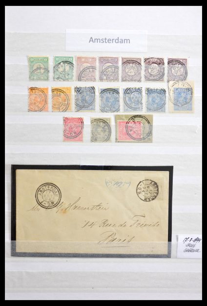 Stamp collection 29089 Netherlands cancels.