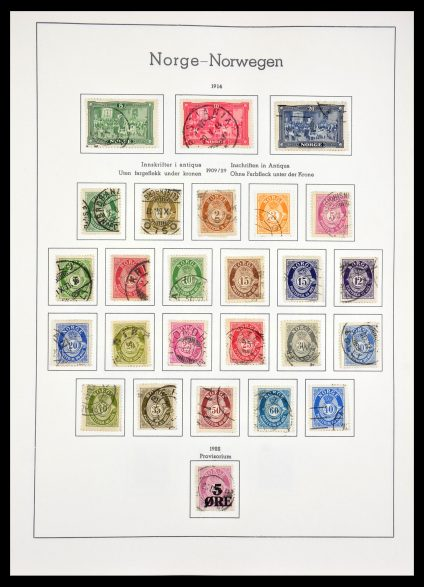 Stamp collection 29128 Norway 1877-2000.
