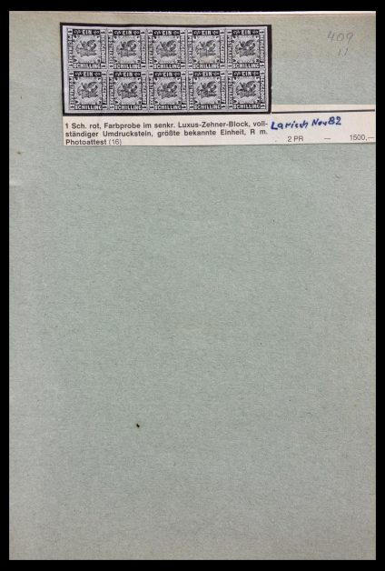 Stamp collection 29129 Germany proofs and essays 1849-1960.