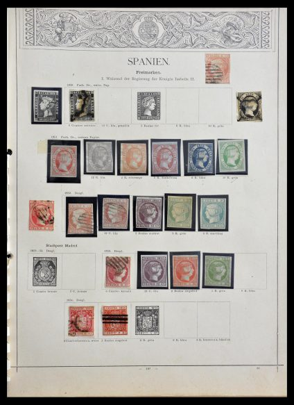 Stamp collection 29148 Spain 1850-1900.
