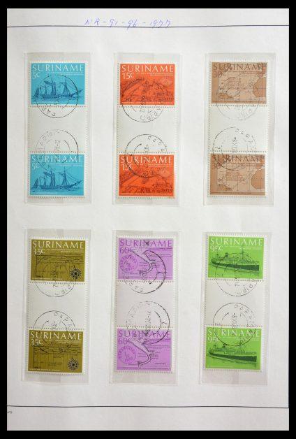 Stamp collection 29154 Surinam gutterpairs 1977-2003.