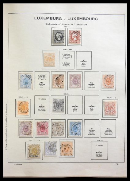 Stamp collection 29204 Luxembourg 1852-1984.