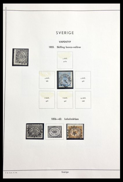 Stamp collection 29221 Sweden 1855-1967.