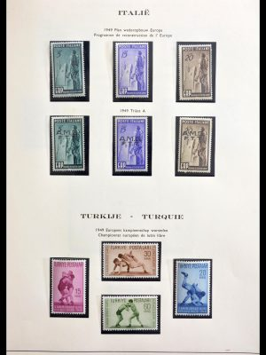 Stamp collection 29226 Europe CEPT 1956-1980 and frontrunners.