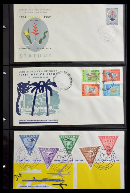 Stamp collection 29235 Surinam FDC's 1960-2006.