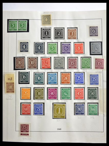 Stamp collection 29259 Bundespost and Zones 1945-1970.
