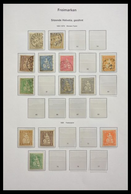 Stamp collection 29273 Switzerland 1862-2008.