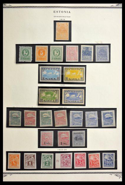 Stamp collection 29277 Estonia 1918-1995.