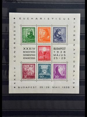 Stamp collection 29283 Hungary souvenir sheets 1938-1984.