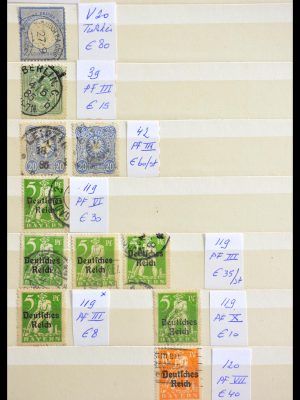 Stamp collection 29317 German Reich plateflaws.