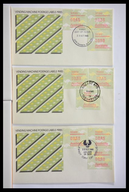 Stamp collection 29353 Western Europe machine vending labels.