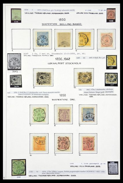 Stamp collection 29367 Sweden 1855-2006.