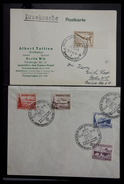 Stamp collection 29382 Germany covers and FDC's 1936-1965.