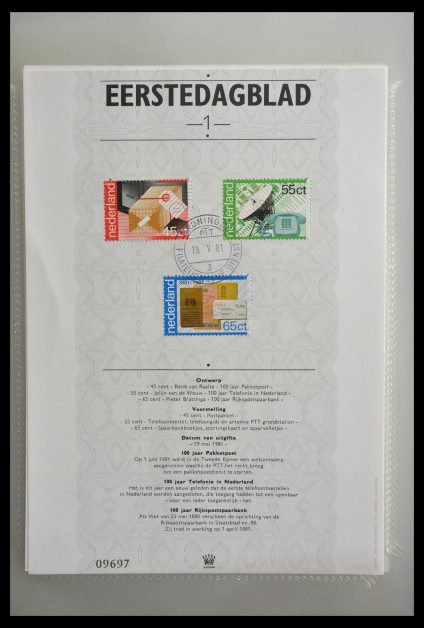 Stamp collection 29403 Netherlands 1st day pages 1981-2010.