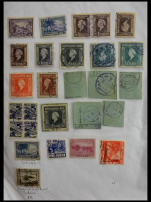 Stamp collection 29422 Dutch east Indies cancels.