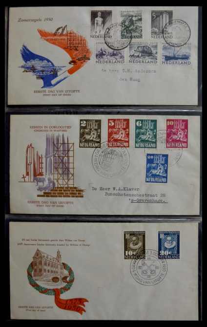 Stamp collection 29470 Netherlands FDC's 1950-1967.