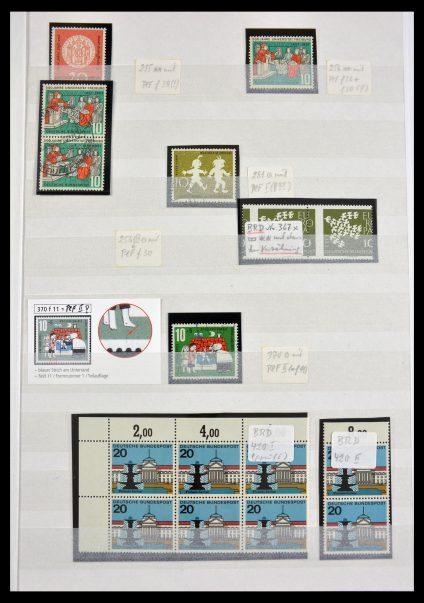 Stamp collection 29491 Bundespost plateflaws 1957-1994.