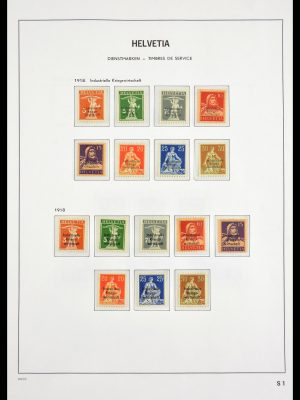 Stamp collection 29499 Switserland back of the book 1868-1950.