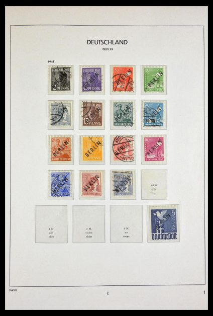 Stamp collection 29525 Berlin 1948-1990.