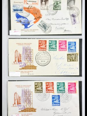 Stamp collection 29540 Netherlands 1950-1982 FDC's.