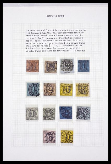 Stamp collection 29548 Thurn & Taxis 1852-1866.