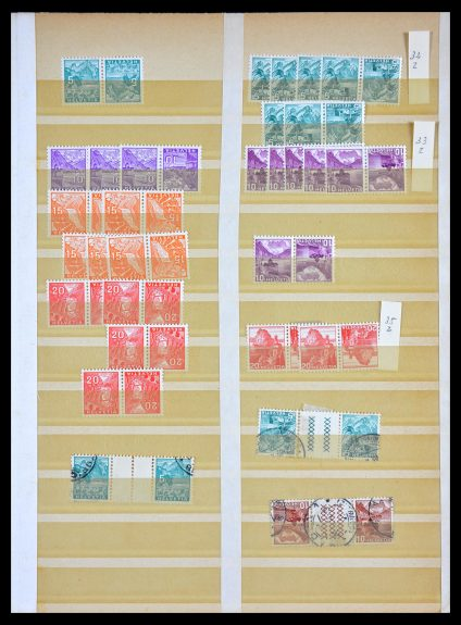 Stamp collection 29549 Switzerland combinations.