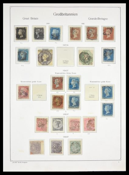 Stamp collection 29557 Great Britain 1840-1986.