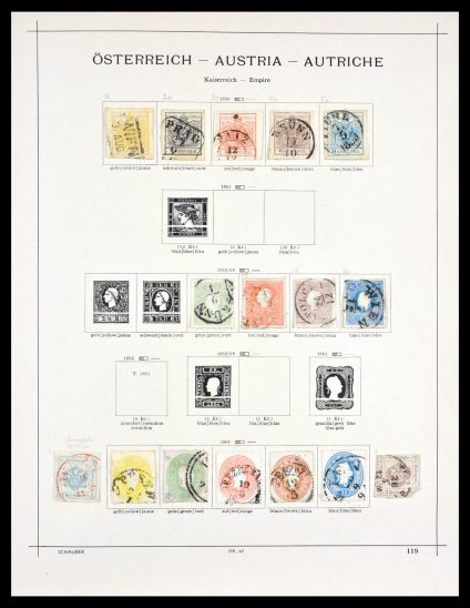 Stamp collection 29562 Austria and territories 1850-1975.