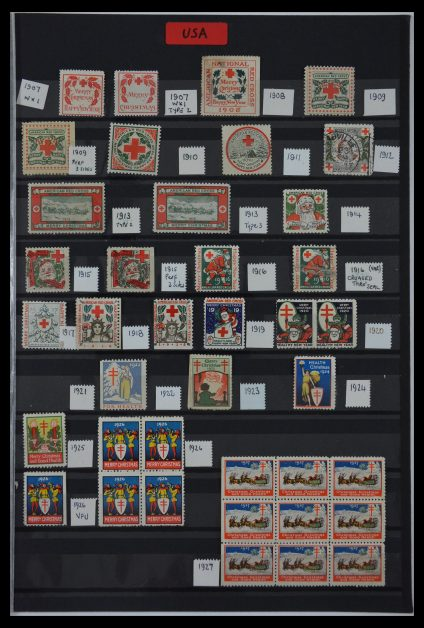 Stamp collection 29587 USA Christmas seals 1907-1978.