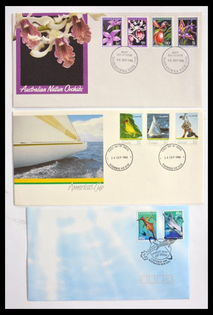 Stamp collection 29611 Australia FDC's 1954-2004.