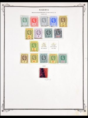 Stamp collection 29616 Nigeria 1914-1941.