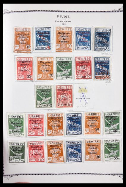 Stamp collection 29635 Fiume 1918-1924.