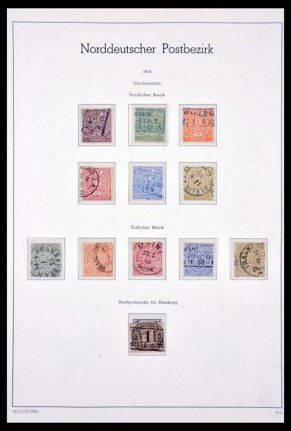 Stamp collection 29641 Norddeutscher Postbezirk 1868-1875.