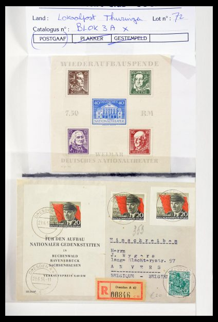 Stamp collection 29653 DDR 1945-1990.