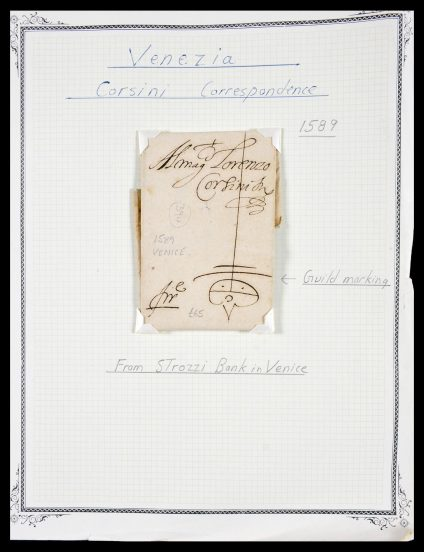 Stamp collection 29664 Italy pre-stamp covers 1589(!!!)-1870.