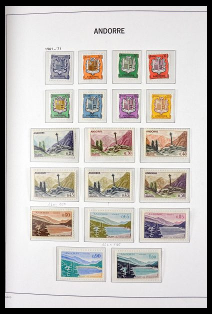 Stamp collection 29689 French Andorra 1962-1999.