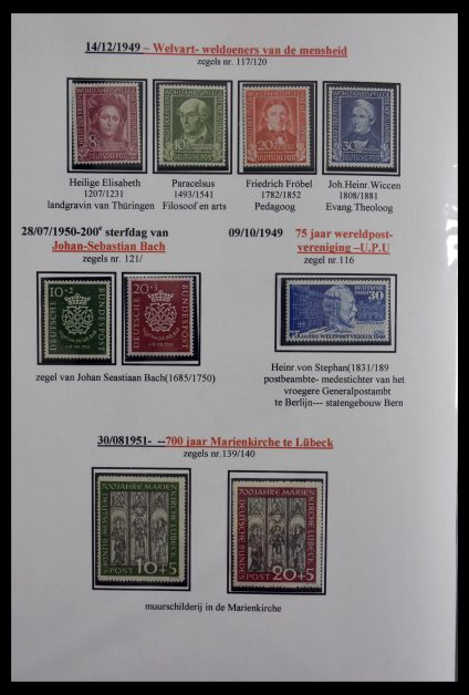 Stamp collection 29715 Bundespost 1949-2000.
