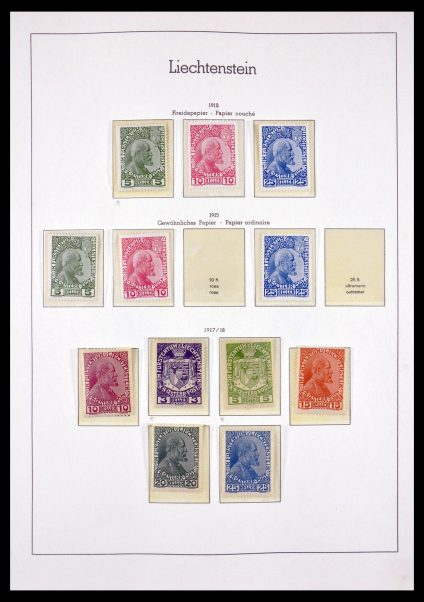 Stamp collection 29734 Liechtenstein 1912-1968.