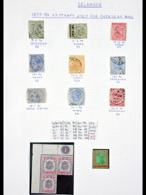 Stamp collection 29768 Selangor ca. 1880-1955.